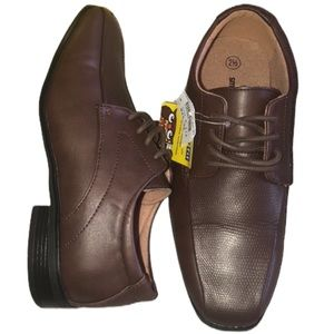 New Smart Fit Brown Textured Boys' Dress Shoes